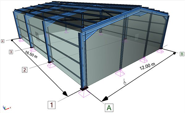 Verification of isolated foundations and hinged steel column